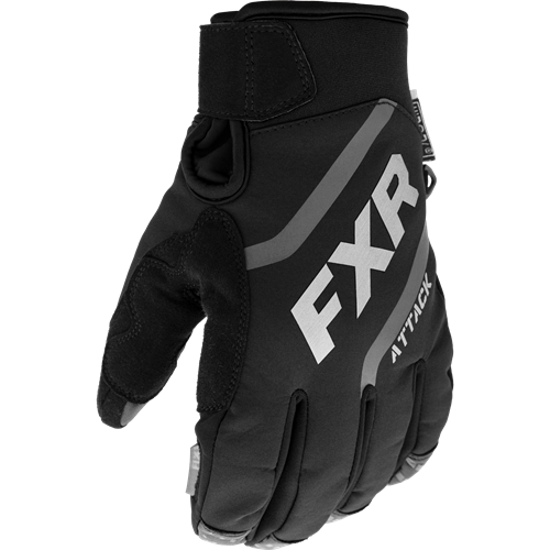 FXR - Attack Insulated Black Adult Gloves