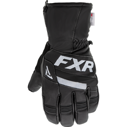 FXR - Leather Short Cuff Black Adult Gloves