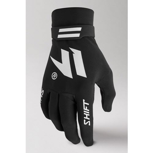 Shift - Black Label Invisible Black/White Men Glove